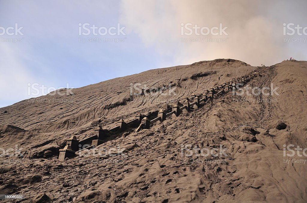 Mt. Bromo after Eruption royalty-free stock photo