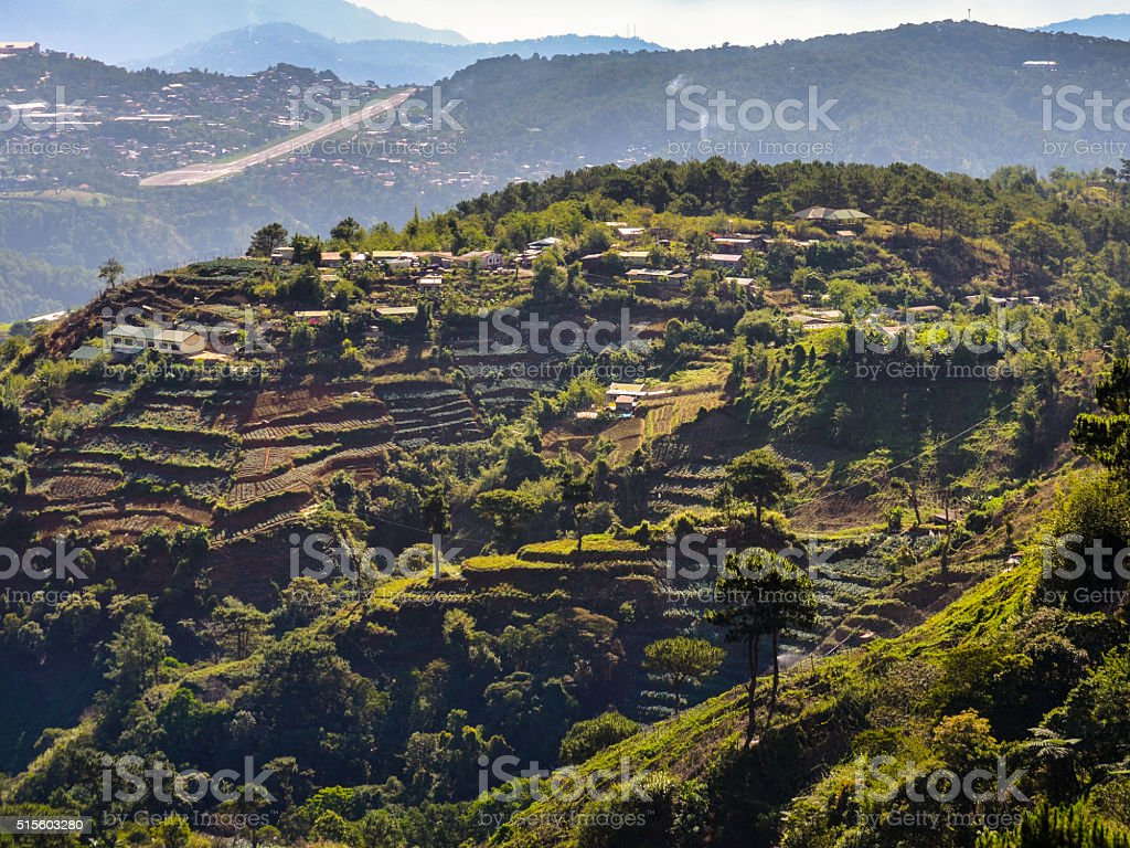 Mt. Cabuyao Rice Terraces stock photo