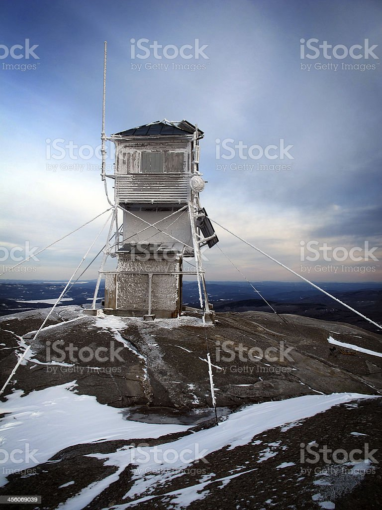 Mt Cardigan Summit Fire Tower stock photo