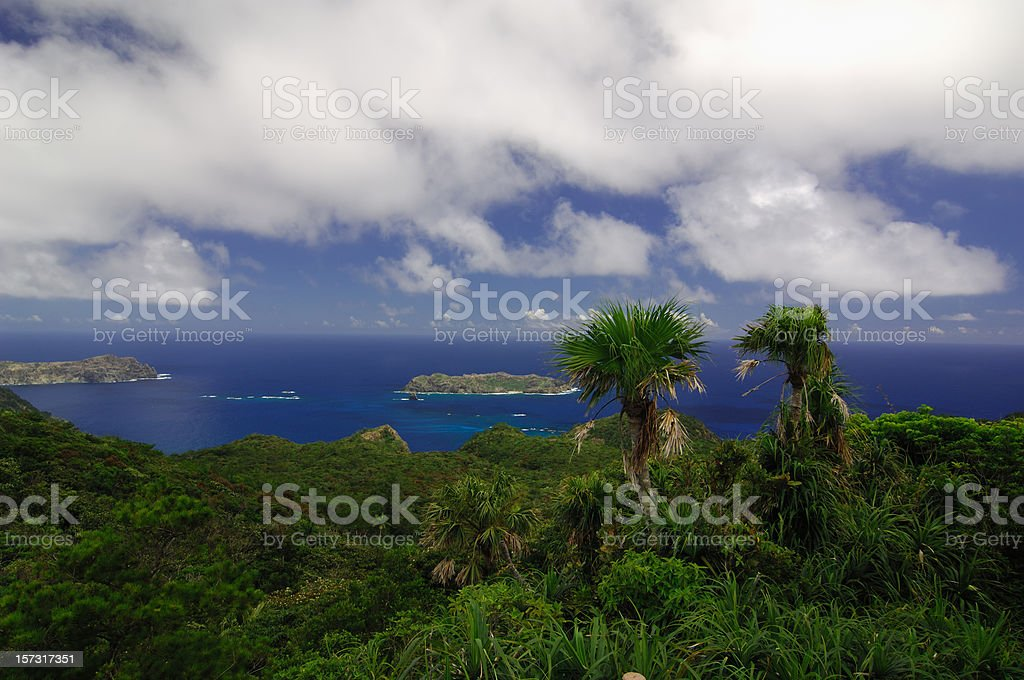 Mt Chuo Ogasawara Islands stock photo