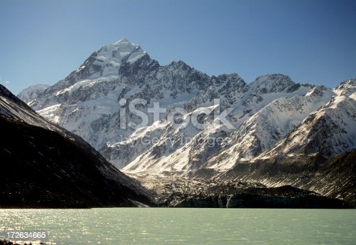 istock Mt Cook from hooker lake 172634665
