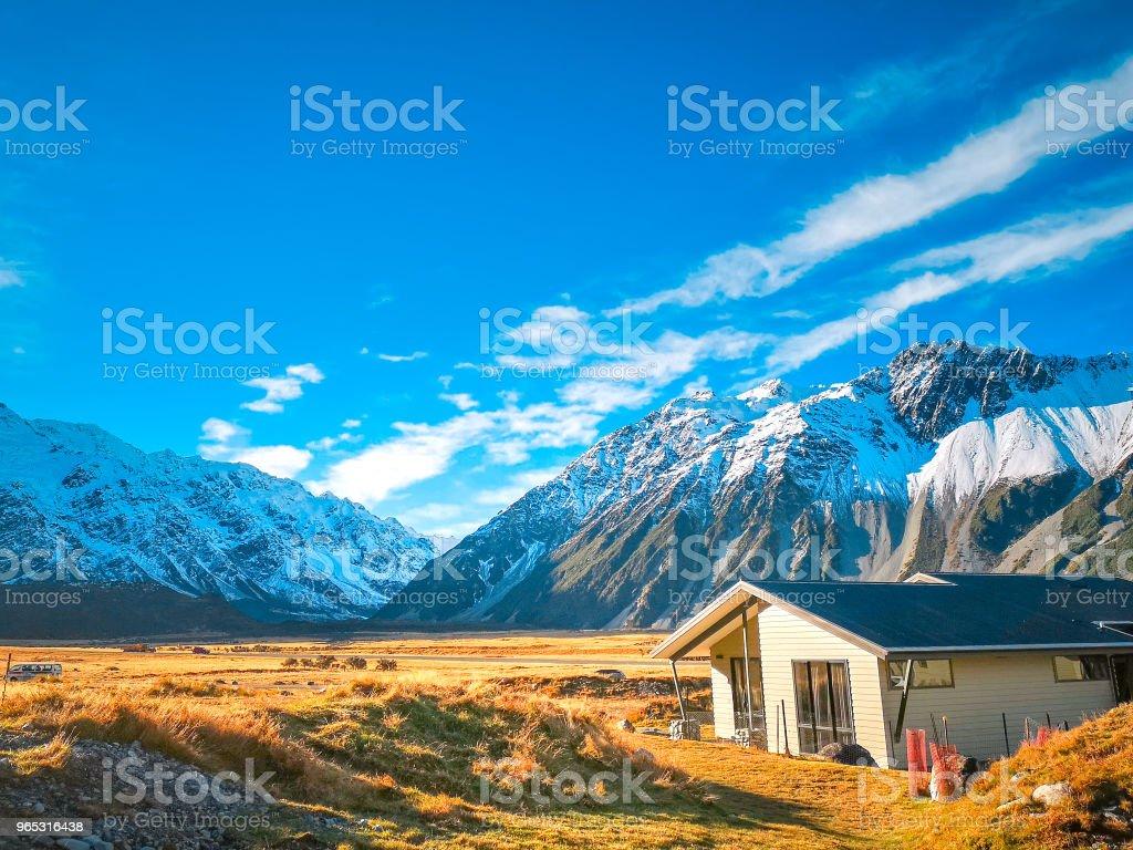 Mt Cook National Park à l'automne, Nouvelle Zélande - Photo de Alpes européennes libre de droits