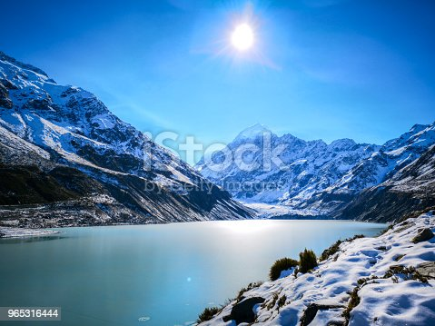 Mt Cook National Park In Autumn New Zealand Stock Photo & More Pictures of Arrival