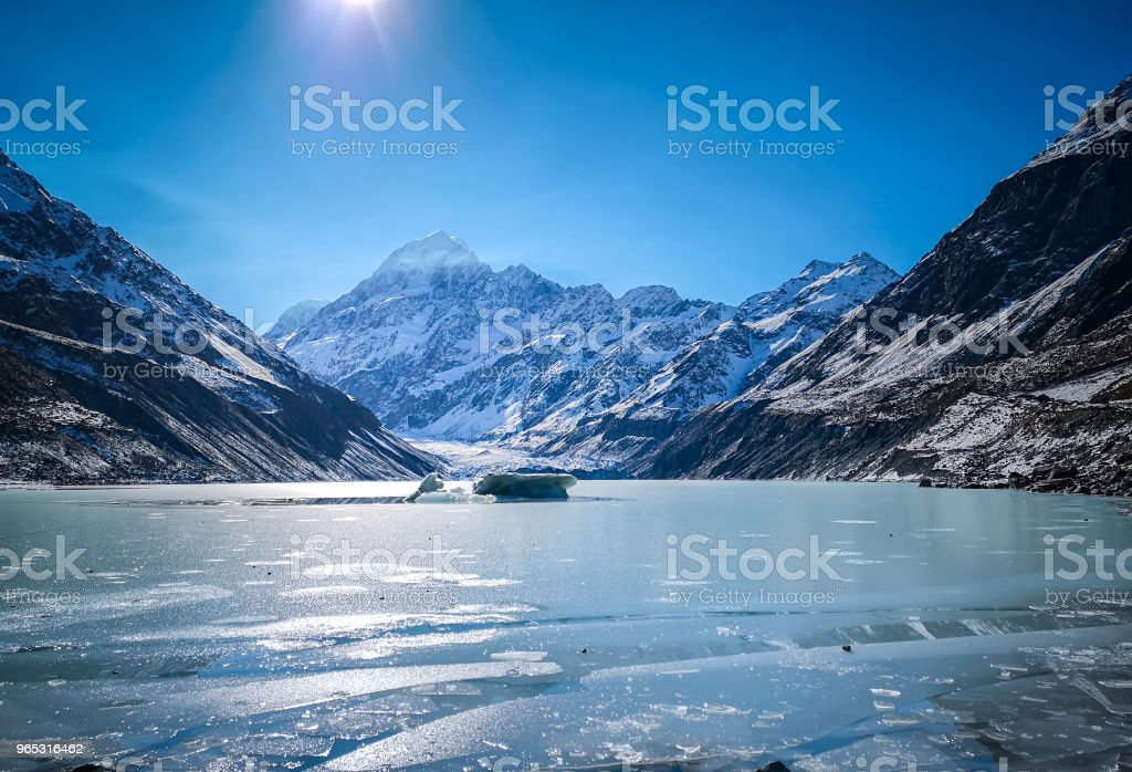Mt Cook National Park in Autumn, New Zealand royalty-free stock photo