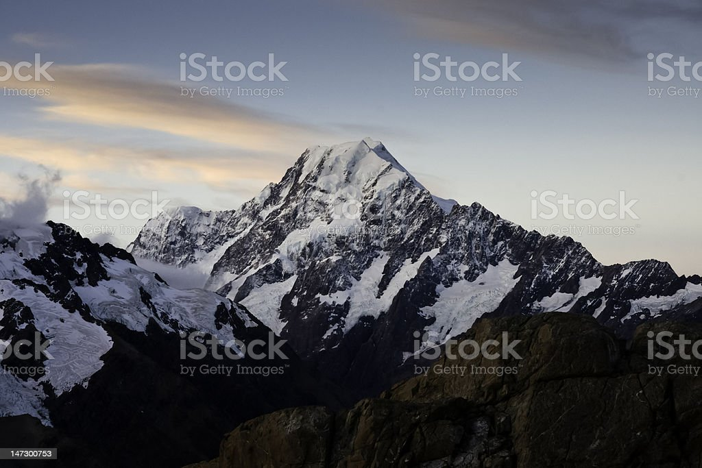 Mt Cook Sunset royalty-free stock photo