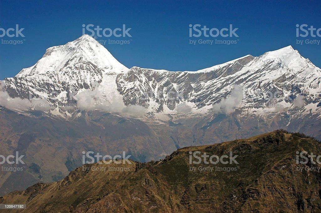 Mt Dhaulagiri royalty-free stock photo