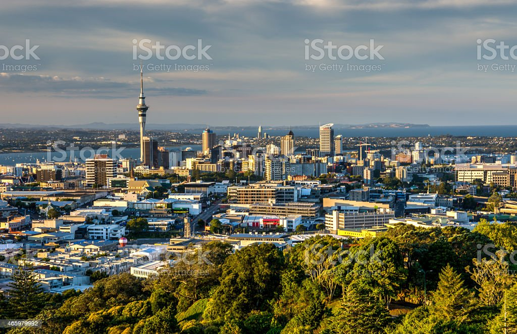 Mt Eden Auckland Skycity Sky Tower stock photo