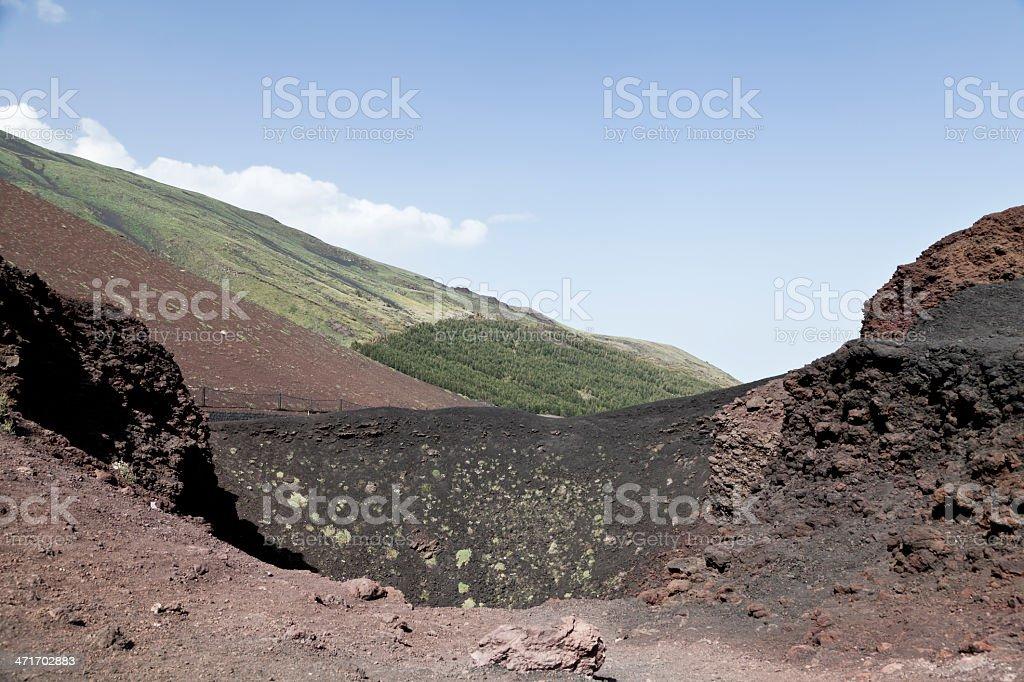 Mt Etna royalty-free stock photo