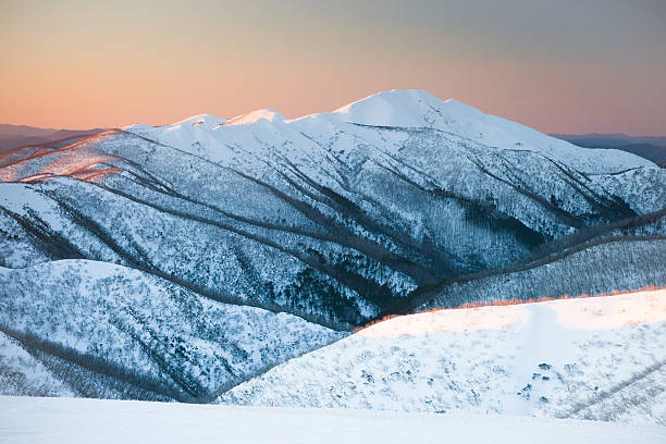 mt feathertop - snowy mountains stock photos and pictures