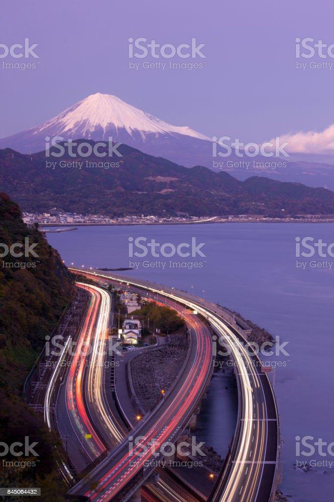 Mt. Fuji and Highway stock photo