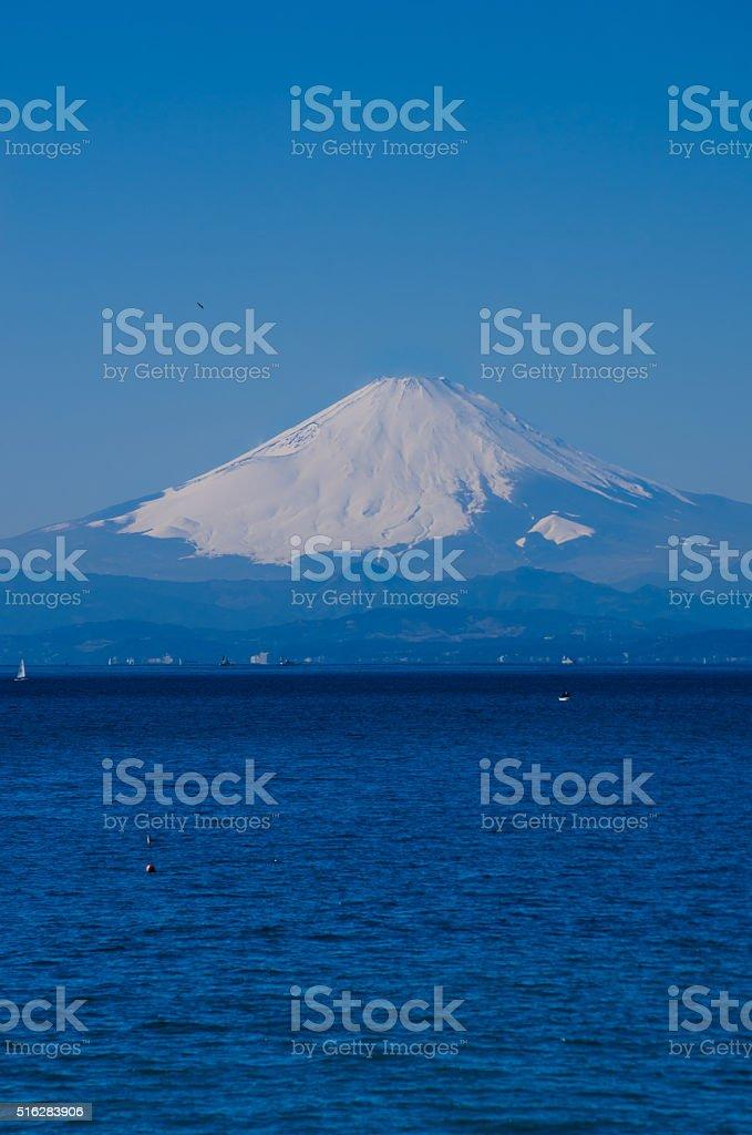 富士山や相模湾(水平ポジション ストックフォト