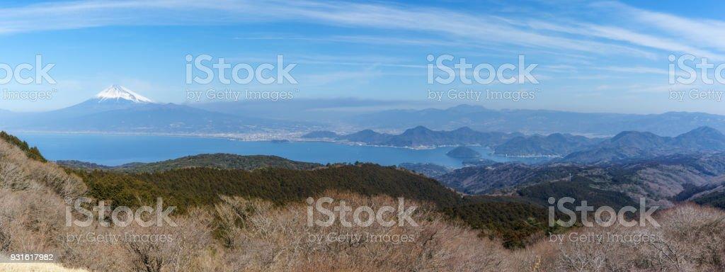富士山と駿河湾 ストックフォト
