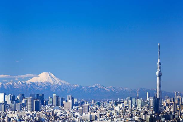 富士山、東京スカイツリー - 富士山 ストックフォトと画像