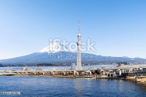 Tokyo - Japan, Tokyo Sky Tree, River, Urban Skyline, Cityscape
