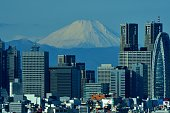 istock Mt Fuji and Tokyo Skyline : Day and Night 1128950874