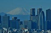 istock Mt Fuji and Tokyo Skyline : Day and Night 1128950939