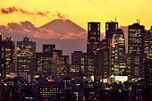 istock Mt Fuji and Tokyo Skyline : Day and Night 1128950959