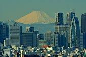 istock Mt Fuji and Tokyo Skyline : Day and Night 1205055989