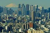 istock Mt Fuji and Tokyo Skyline : Day and Night 1205056129