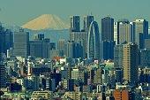 istock Mt Fuji and Tokyo Skyline : Day and Night 1205056130