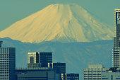 istock Mt Fuji and Tokyo Skyline : Day and Night 1205056288
