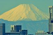 istock Mt Fuji and Tokyo Skyline : Day and Night 1205056289