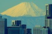 istock Mt Fuji and Tokyo Skyline : Day and Night 1205056595