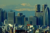 istock Mt Fuji and Tokyo Skyline : Day and Night 1205057470