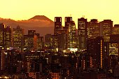istock Mt Fuji and Tokyo Skyline : Day and Night 1205057508