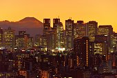 istock Mt Fuji and Tokyo Skyline : Day and Night 1205057659