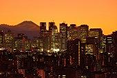 istock Mt Fuji and Tokyo Skyline : Day and Night 1205057796
