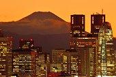 istock Mt Fuji and Tokyo Skyline : Day and Night 1205058476