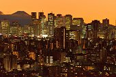 istock Mt Fuji and Tokyo Skyline : Day and Night 1205058558