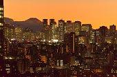 istock Mt Fuji and Tokyo Skyline : Day and Night 1205058559