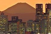 istock Mt Fuji and Tokyo Skyline : Day and Night 1205058629