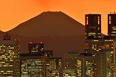 istock Mt Fuji and Tokyo Skyline : Day and Night 1205058708