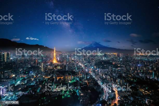 Photo of Mt. Fuji and Tokyo skyline