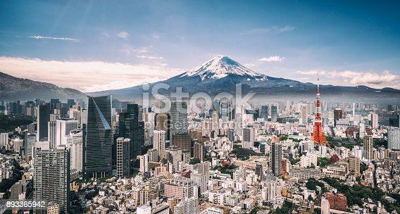 istock Mt. Fuji and Tokyo Skyline 893365942