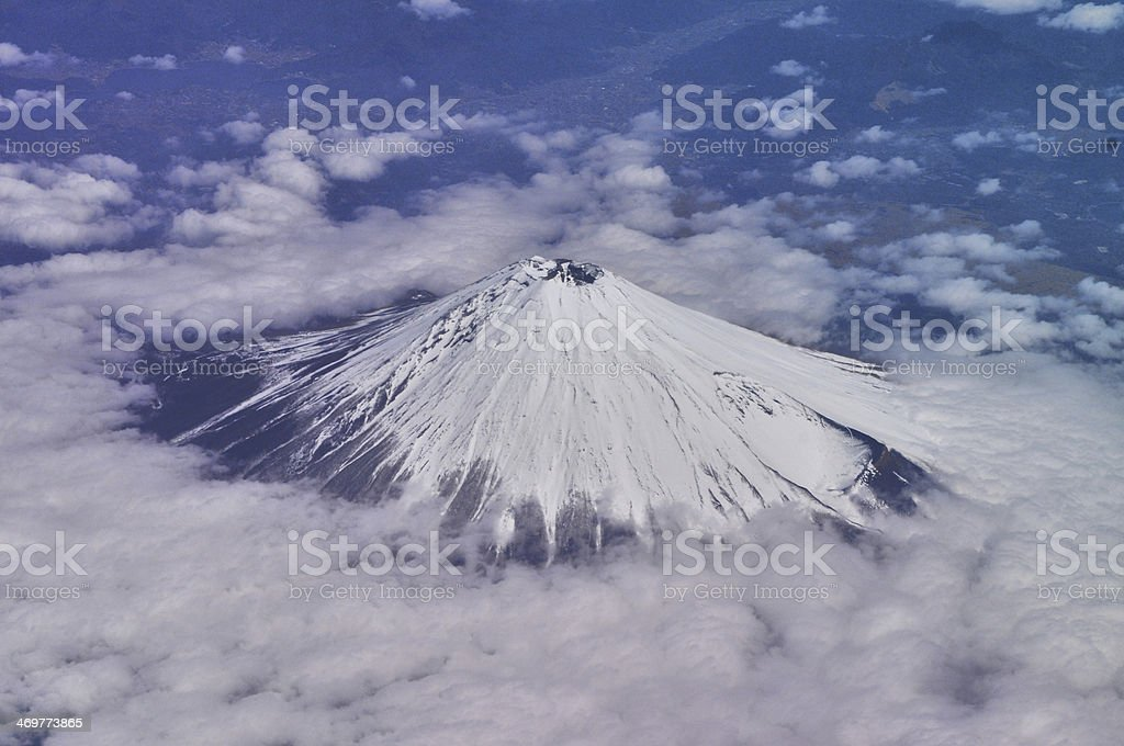Mt Fuji as Viewed from the Sky stock photo