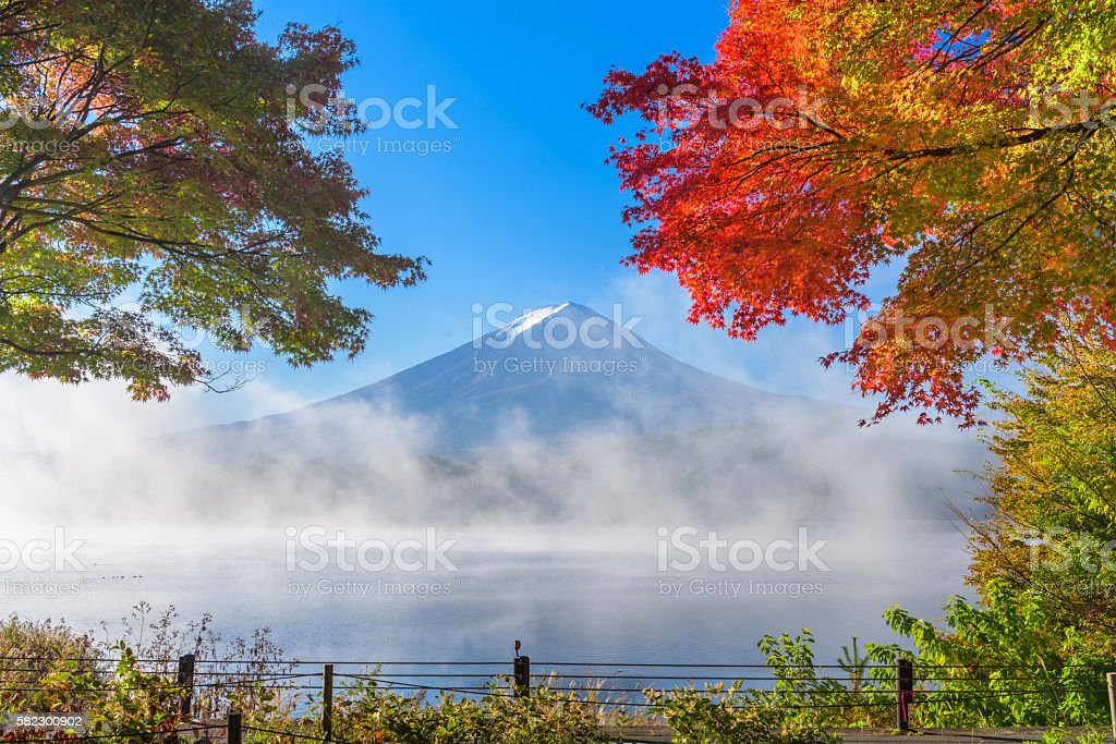 Mt. Fuji in Autumn stock photo