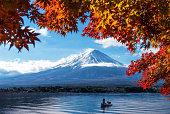 河口湖から秋景の富士山