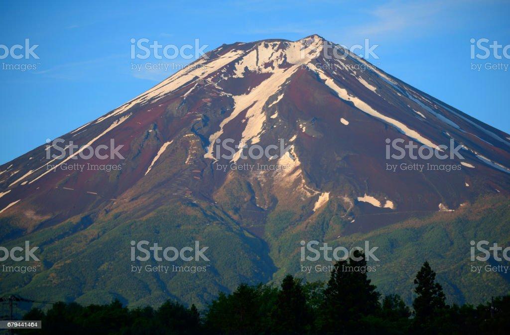 富士吉田からの初夏の富士山 photo libre de droits