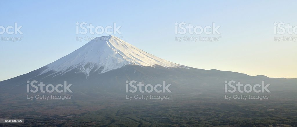 Mt Fuji on a clear day royalty-free stock photo
