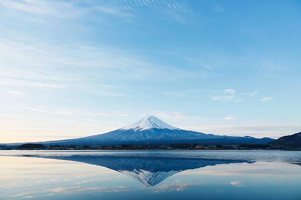 Mt. Fuji an inverted image of Mt  Fuji lake kawaguchi stock pictures, royalty-free photos & images