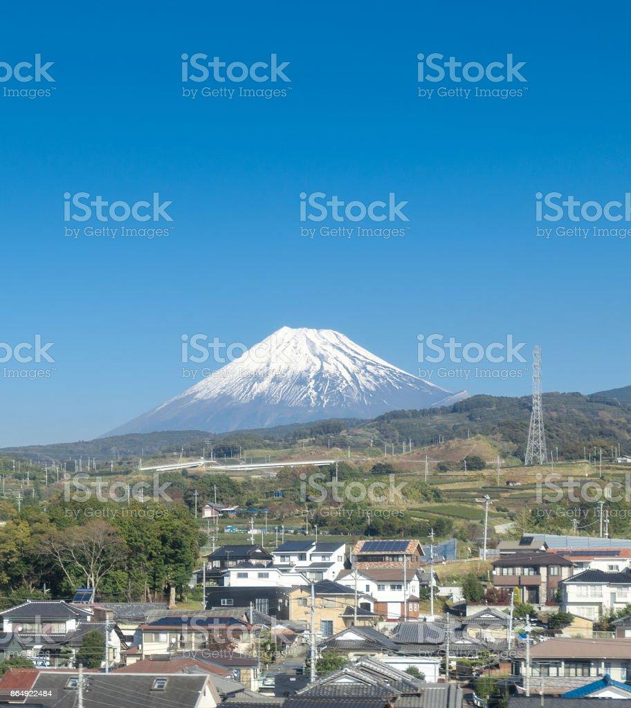 Mt fuji with blue sky,japan stock photo