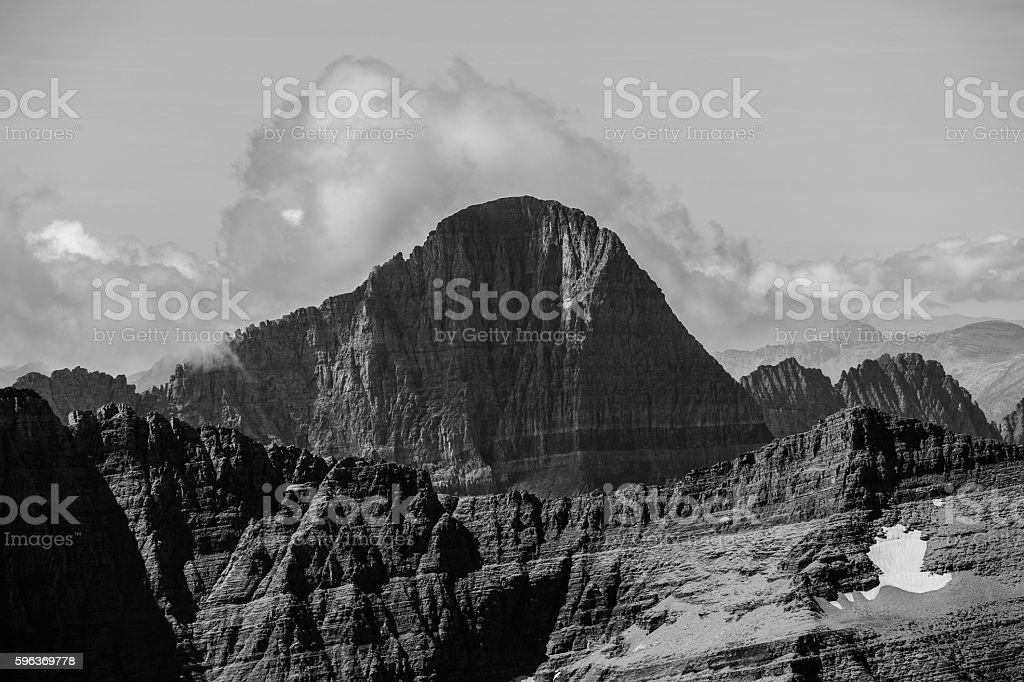 Mt. Grinnell.  Mountain in Glacier National Park.  Montana, USA stock photo