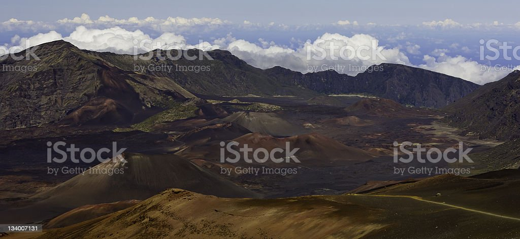 Mt. Haleakala Panorama royalty-free stock photo