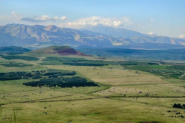 Mt. Hermon view stock photo