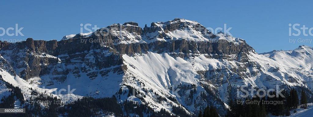 Mt Hochfinsler, view from Flumserberg stock photo