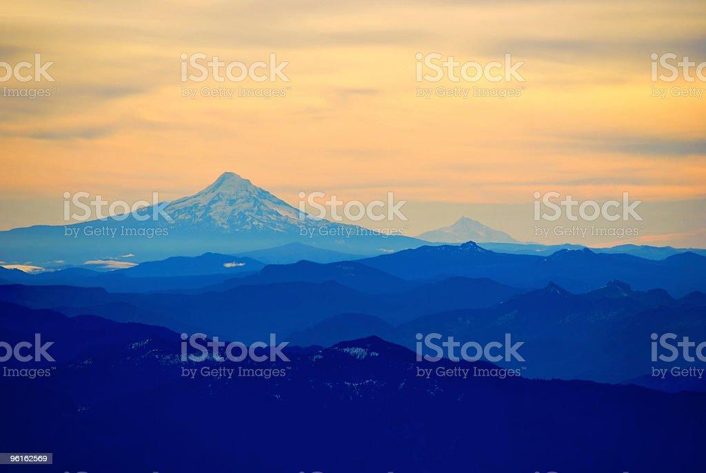 Mt. Hood and Ridges stock photo